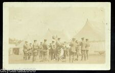 QUEEN'S OWN ROYAL WEST KENT Regiment  Band  in  camp  pos Eastbourne area RP