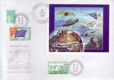 4417+  1 er JOUR  CONCORDE   BLOC  NIGER 1997 + OBLITERATION CONSEIL DE L EUROPE