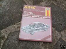 Austin Montego Haynes Workshop Manual 84-85 Models