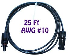25ft AWG#10 Double Layer MC4 Solar PV cable Extension