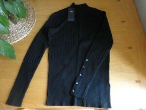 M&S Womens Black High Neck Knit Jumper Size 8 10 12 14 16 18 20 22 24 BNWT