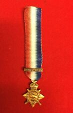 Miniature 1914 Mons Star Medal With Date Clasp