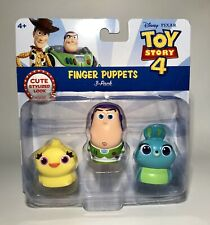 Disney Pixar Toy Story 4 Finger Puppets 3 Pack Ducky Buzz Lightyear Bunny NIP