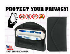 Anti-Tracking Anti-Spying GPS RFID Signal Blocker Case Bag Wallet. Large.