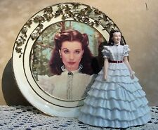Bradford Exchange Gone With The Wind Figurine Plate Ruffles and Lace