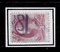 US 1800s Unknown PO Fancy Cancel = 'US' Mail MONOGRAM = Cole #[Unrecorded]..MC3