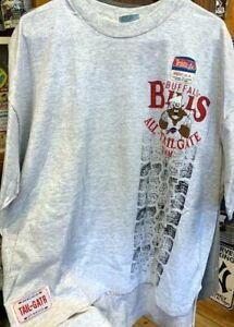 VINTAGE NFL BUFFALO BILLS S/S TEE OVERSIZED  X-L TEE SHIRT-TAILGATER 1991-NEW!