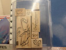 A lifetime of love for the bride congratulations swan STAMPIN UP RUBBER STAMP 5C