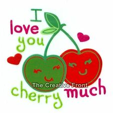 I Love You CHERRY Much - DIY Iron On Glitter T-Shirt Heat Transfer - NEW