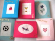 Birthday Cards Completed Cross Stitch Pack of 6 cards SM7