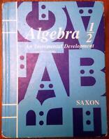 Algebra 1/2 An Incremental Development  by John Saxon
