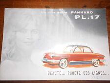 Prospectus sales brochure panhard pl.17 garantie certificat 1959 farbprospekt