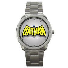Comic Cartoon Batman Super Hero Logo Mens Sport Steel Watch New