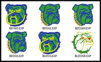 14 Bulldog File Embroidery Design Digitized Stitches to Run Machine