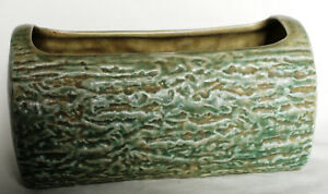 Vintage Stoneware Log-Shaped Planter