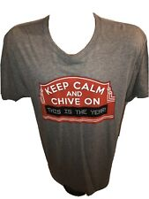 Authentic Keep Calm And Chive On KCCO Gray T-Shirt This Is The Year Size Large