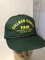 Vintage Cullman County Fair Alabama Lions Snapback Cap Hat Vtg