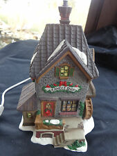 O'WELL CHRISTMAS VILLAGE LIGHTED HOUSE CANDLE SHOP STORE WINDOW VIEW