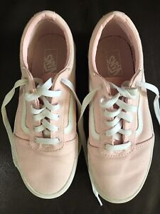 Womens Vans Sk8 Lo Top Shoes Size 5 Us Missy, Pink, White Stripe