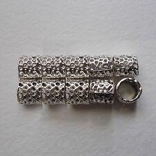 10 Perline per Capelli HQ, Dreadlock Perle, Perline Foro grande, 7mm, 5mm foro, Tibetan Silver