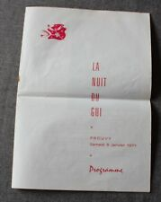 Michel Sardou, tres rare programme de spectacle Janvier 1971