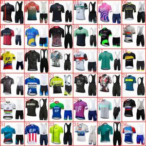 Men's Racing Clothes Cycling Jersey Bib Shorts Set Outdoor Bike Sports Kits