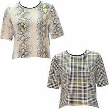 Polyester Animal Print Cropped Tops & Shirts for Women