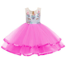 Unicorn Princess Costume for Girls Birthday Party Tutu Dress up Carnival Clothes