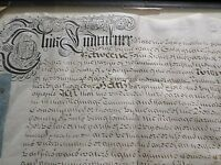 1721 Antique British Document, Manuscript Autograph Signed by John, 6 Pence Seal
