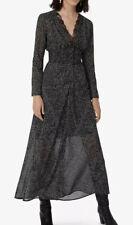 MAJE Ravialine polka dot woven maxi dress 38/UK10