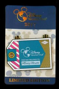 DVC Vacation Club 2017 Luggage Tag Collection #3 Teal LE Disney Pin 125421