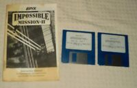 Vtg Epyx  Impossible Mission 2  Computer Diskette 1& 2 IBM PC & compatibles 1988