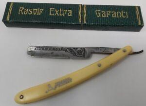 Rasoio a Mano Libera Antico Barber Shop Lama Solingen Triangel RASTRIAS8
