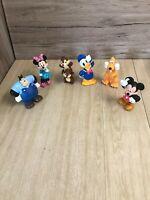 Disney plastic figures, Mickey Mouse, Pluto, Donald....