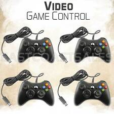 4x Black USB Video Game Pad Remote Controller for Xbox 360 System PC Windows