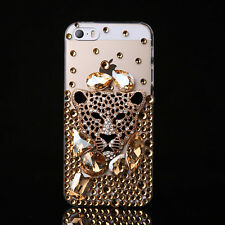 Bling handmade Crystal Diamonds gems flower Soft TPU Gel Back Case Cover Skin #2