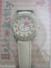 Hello Kitty Reloj HK008 Oficial Sanrio Cristales De Acero Inoxidable Genuino