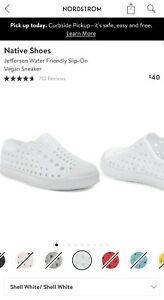 Nordstrom Natives White Kids Shoes Size 2 (J2) 7 Year-Old