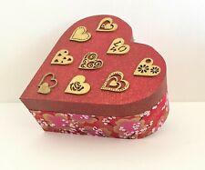 Handcrafted Heart Shaped Oriental Style Keepsake Box