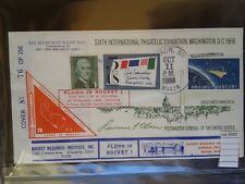 COVER rocket  mail US 1968 ONLY 250 rare   (ros4085