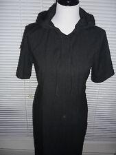 Comfy GAP Hooded Dress, Charcoal Gray, Midi Length, Rayon Poly Blend Sz 8