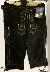 Mens German Lederhosen Oktoberfest Traditional Costume Suede leather pants New