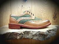 CHATHAM // Lewis II // Mens Tweed Tan Brogues Shoes // REDUCED Was £175.00