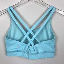 Lululemon Energy Bra 4 Blue Moon Strappy Sport Yoga Run Workout Top Athletic