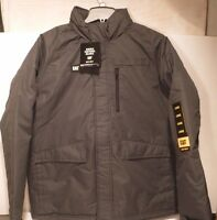 Caterpillar Men's Insulated Rocky Mountain Jacket CAT Hood Lined WorkWear Black