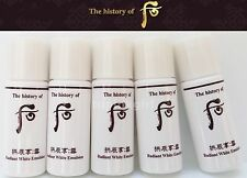 The History of Whoo Seol Radiant White Emulsion 19ea x 5ml ,Whitening Lotion New