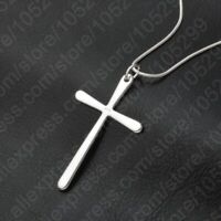 "Mens Womens 925 Sterling Silver Cross Pendant 18"" Snake Chain Necklace #N56"