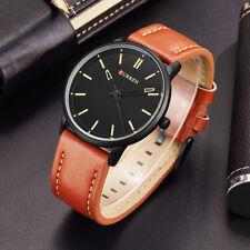 Montre Militaire Pour Homme Curren Quartz Bracelet Cuir Fashion Men Watch
