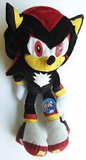 """USED WITH TAG! SEGA Sonic the Hedgehog 18.5"""" Shadow Plush Doll by Nanco SEE PICS"""