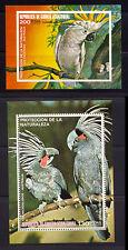 Colorful Parrots from Equatorial Guinea Two MNH Souvenir Sheet
